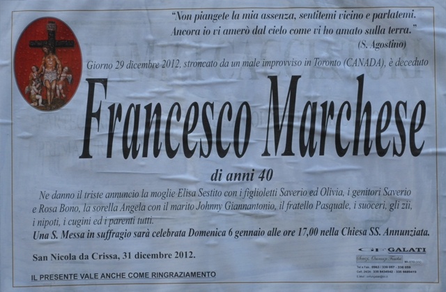 2012 for Francesco marchesi